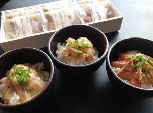 画像1: 剣先イカ・炙りのどぐろ・金太郎(ひめじ)の海鮮三種漬け丼【3種x30gx3食入】